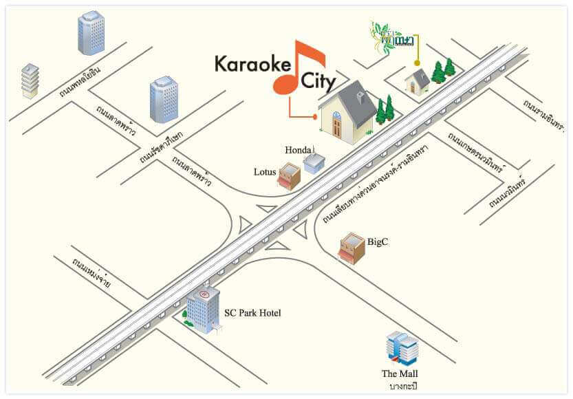 bangkok karaoke city map